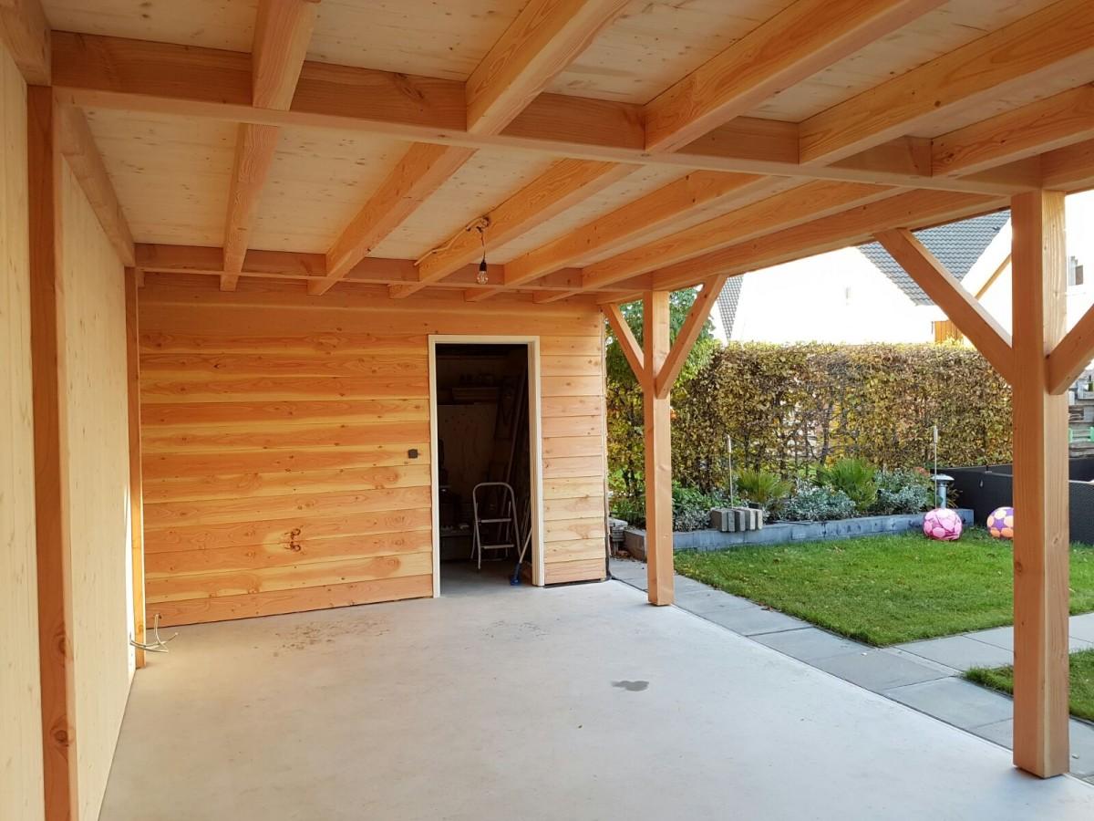 veranda houtconstructie douglas